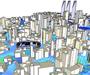 Air flow analysis of urban spaces