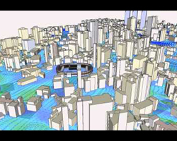 City wind simulation