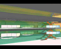 Natural ventilation for shopping mall with atrium